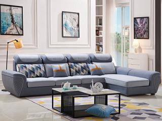 现代8302布艺沙发组合(不分左右)