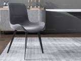 米勒 现代简约 优质皮艺 深灰色 餐椅