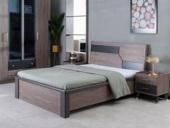 科隆印象 现代简约 高级灰 实木床脚 卧室双人床 1.5*2.0米高箱床