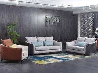 芬洛 现代简约 优质细麻 弹簧底坐 沙发组合(1+2+3)