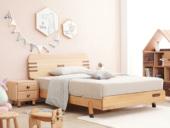 北欧印象 北欧风格 榉木坚固框架 手工木蜡油工艺 曲奇色 ET6101儿童床 1.5*1.9米儿童床