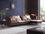 芬洛 现代简约 进口樟子松坚固框架 科技布 坐包双面布色 2030 弹簧底坐 沙发组合(2+2+贵妃踏)不分方向