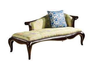 简欧系列 泰国进口橡胶木框架 布J205贵妃椅