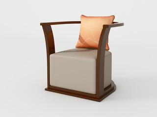 新中式 小乌金木 FA1902休闲椅