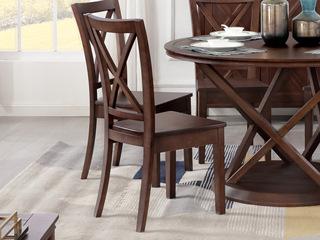 美式风格 泰国进口橡胶木 浅咖色 餐椅
