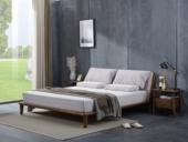 源木时光 北欧风格 北美进口白蜡木 布艺软靠 1.8*2.0米床