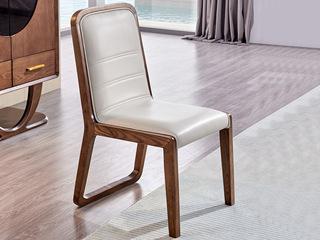 北欧风格 北美进口白蜡木 米白 餐椅(单把价格 需双数购买 单数需增加打包费用)