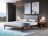 源木时光 北欧风格 北美进口白蜡木 皮艺软靠 1.2*2.0米床