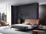 洛林菲勒 极简风格 碳素钢脚 床头柜
