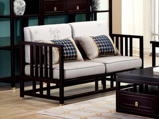 新中式 东南亚进口红檀木 真丝靠包 K901 双位沙发