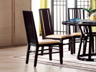 新中式 东南亚进口红檀木 真皮C951 餐椅