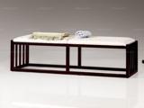 墨舍 新中式 东南亚进口红檀木 高精密提花面料 W991 床尾凳