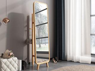 北欧风格 优质泰国进口橡胶木 水性环保油漆 试衣镜