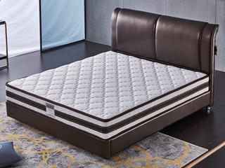 現代簡約 高端針織面料 高彈海綿 10MM天然乳膠 12MM環保棕 熱壓纖維綿 邦尼爾彈簧 白色230mm 1.8*2.0米床墊