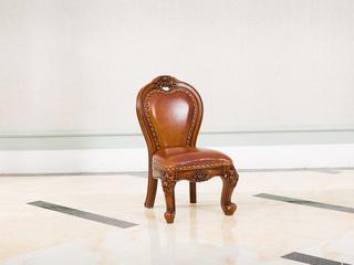 进口桃花芯木 美式古典华丽棕颜色牛皮宝宝椅