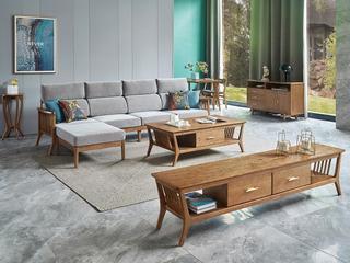 北欧风格 北美进口白蜡木 释压坐感 久坐不累 亲肤棉麻 四人沙发