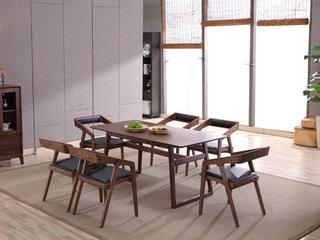 北欧风格 稳固白蜡木脚 坚韧耐磨 经久耐用 1.4m餐桌