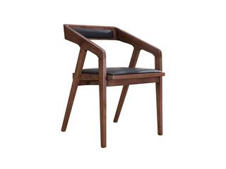 北欧风格 精选北美进口白蜡木 双扶手餐椅