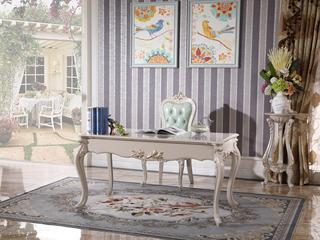 简欧风格 进口榉木坚固框架 书桌