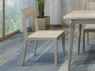 现代简约 优质橡胶木 实木餐椅