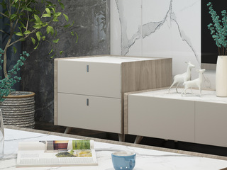 现代简约 坚韧白蜡木 气质灰 细腻触感 边柜