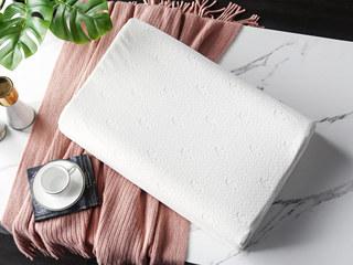 慕思集团时尚品牌 曲线成人枕 乳胶 双层枕套 舒适透气  枕芯