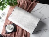 V6家居 慕思集团时尚品牌 慕境 高科技感温记忆绵高低枕 针织面料 亲肤透气 双层枕套 双层保护 枕芯