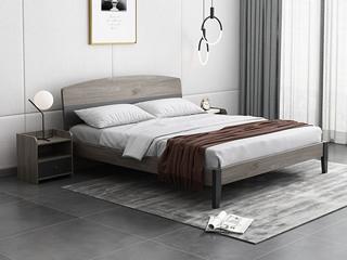 现代简约 柚木色 BB5506 板木床 1.8*2.0米床