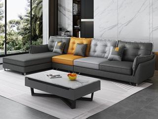 现代简约 科技布 (1+3+右贵妃)沙发组合
