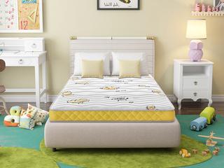 ·酷睡香橙1.5*2.0 邦尼爾彈簧護脊3D椰棕專業兒童15cm床墊