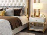 梵克美家 轻奢风格 白色 床头柜