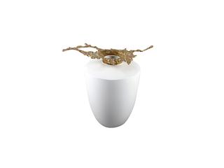 新中式风格 铜+陶瓷 花器