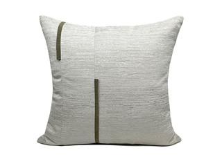 轻奢 肌理布 灰白色 花纹 抱枕