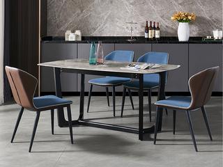 极简 意大利灰岩板 1.3米 餐桌