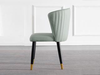 轻奢 环保纳帕皮/实木脚 餐椅