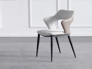 极简 科技布/黒砂 餐椅