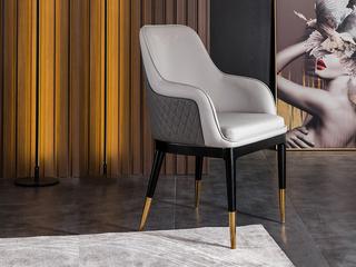 轻奢 环保纳帕皮革/橡木架 餐椅