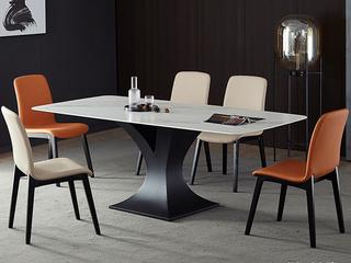 极简 雪山石岩板 1.3米 餐桌