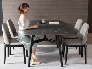 极简 阿玛尼灰岩板 1.5米 餐桌