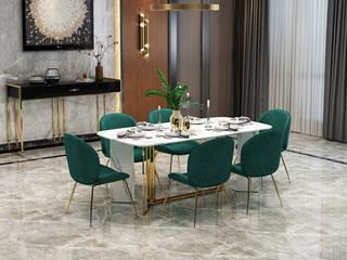 轻奢 大理石 1.8米 餐桌