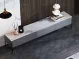 卡罗亚 现代简约 高光岩板 浅灰色 电视柜