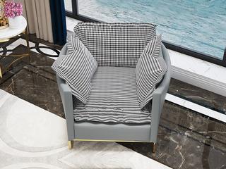 现代极简 皮艺 单人位沙发