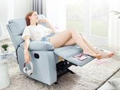 芝华仕 科技布 防水 头等舱 功能手动躺椅 石灰蓝色 单人沙发(此款不含抱枕)