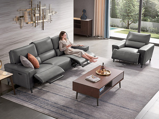 头等舱 意式风格 防水防污易清洁 功能 三人位 电动沙发(此款不含抱枕)