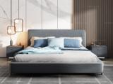 卡罗亚 极简风格 舒适透气 优质布艺+实木框架 1.8米 高箱床(搭配实木排骨架)