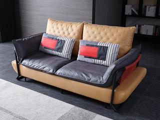 现代简约 科技布 亲肤舒适 双人沙发
