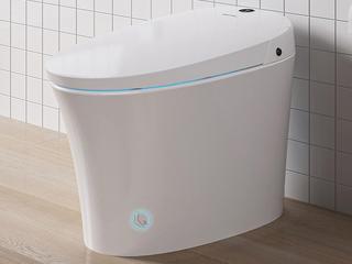 【包邮 送货到家】 智能马桶一体式智能坐便器 脚踢冲水 智能屏显 柔光夜灯 白色坐便器