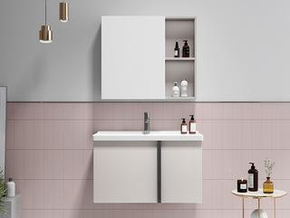 【包邮 送货到家】 现代简约风格 超强防水面板 超大储物空间 70CM 浴室柜套装(龙头需单独购买)