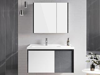 【包邮 送货到家】 现代简约风格 双色撞色设计 多层防水板材 90CM 浴室柜套装(龙头需单独购买)