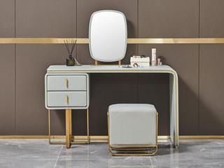 潮品系列 Z-606钛金妆台+妆凳+妆镜